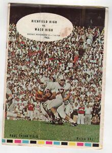 1962 Texas High School Football Program Richfield v Waco 11/16 49482