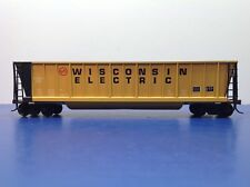 "HO Scale ""Wisconsin Electric"" WEPX 645 50' Open Bathtub Gondola Freight Train"