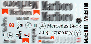 """GPD DECALS F1 1/18 1996 Mclaren MP4/11 Hakkinen Coulthard """"Race Livery Fill-In"""""""