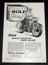 1960 OLD MAGAZINE PRINT AD, HARLEY-DAVIDSON DUO-GLIDE MOTORCYCLES, BEAUTIFUL!