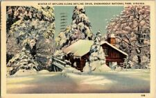 1944. WINTER AT SKYLAND, SHENANDOAH NAT'L PARK, VA. POSTCARD EP16