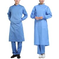 Men Women Surgical Gown Long Sleeve Hospital Workwear Doctor Long Coat Uniform