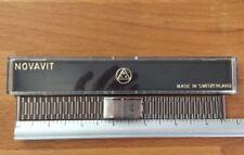 NOS NSA Novavit 20mm Rolled Link Brushed Steel Bracelet.