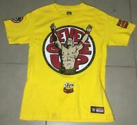 john cena WWE Wear 2014 Sz XL  Never Give Up Yellow T Shirt XL authentic adult