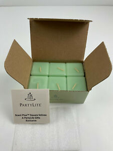 Partylite Square Votive Candles Honeydew Scent Plus New in Box