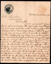 1871 Galveston Tx - Allen Poole & Co Cattle Ranch signed  S W Allen Letter Head