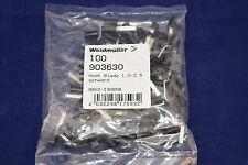 100 St. Stiftkabelschuh haken 1 mm² 2.5 mm² Teilisol. Schwarz Weidmüller 903630