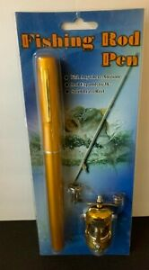 """Fishing Rod Pen / Fish Anywhere, anytime. 38"""" Solid Brass Reel"""
