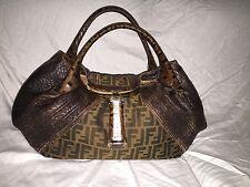 $2300 Authentic FENDI Spy Limited Edition Tortoise Leather BAG HOBO Purse