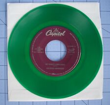 Beatles George Harrison Green Vinyl 45 RPM Capitol My Sweet Lord & All Things +