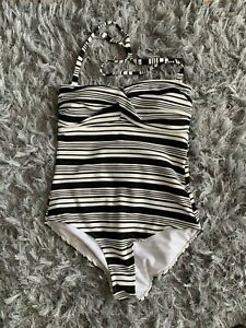 George Halterneck Swimsuit Size 16 Removable straps Padded Tummy Control