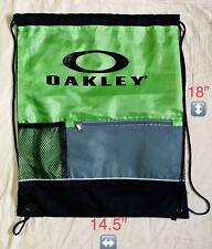 Oakley Backpack Polyester Nylon Bag Drawstring Satchel Green With Black Logo NEW
