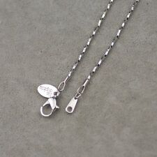 """18½"""" Lia sophia signed jewelry silver tone basic necklace snake chain free ship"""