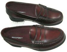 Rockport DMX Penny Loafer Mens Size 9 Burgundy Leather Slip On Dress Shoes M2567