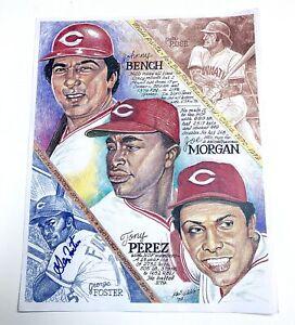 George Foster - Cincinnati Reds Autographed 11x14 Art Print