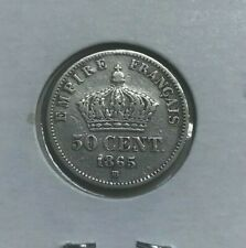 1865 BB France 50 Centimes - Small Silver