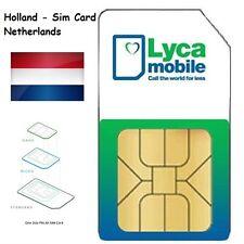 LYCA NL 3 in 1 SIM CARD | 4G ready Prepaid Netherlands data Internet Holland
