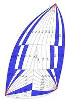 Stock NEW Asymmetric Spinnaker Sail, Luff 15500(50.85ft), ~35ft sailboat