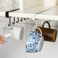 Kitchen Under Cabinet Towel Cup Paper Hanger Rack Organizer Holder Shelf D4K6