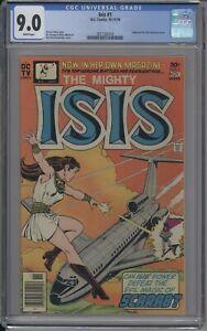 ISIS 1  CGC 9.0  WHITE 1976 FIRST ISSUE BLACK ADAM MOVIE?