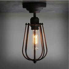 Retro Vintage Pendant Lamp Industrial Loft Iron Cage Ceiling Light Fixtures