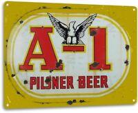"""""""A-1 Pilsner Beer"""" Metal Decor Art Store Shop Bar Pub Cave Sign"""