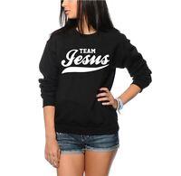 Team Jesus - Unisex Cool Swagg Jumper - Black and Grey Sweatshirt
