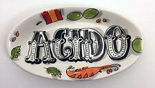 """""""Acido"""" Tapas Plate by Blond Amsterdam 6.5"""" with Olives & Shrimp Carnivale Font"""