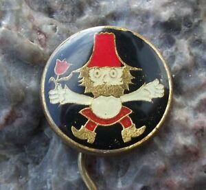 Vintage Rumcajs the Gallant Robber Czech Cartoon Character Vecernicek Pin Badge