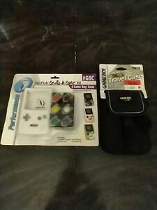 NEW Vtg GBC Nintendo GameBoy Color Travel Face + Faceplate Create-A-Color Kit