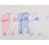 Newborn Baby Girl Boy 100% Cotton Sleepsuit All-in-one Babygrow 0-9 Months