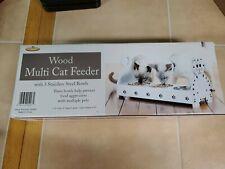 Wood Multi Cat Feeder - Adorable