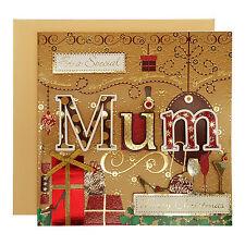 NORTH POLE Luxury Handcrafted Christmas Card Mum Mother Mam 17cm x 17cm