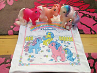 Vintage Hasbro My Little Pony Club Member VINYL BAG1985 + MLP PONY'S+MORE ITEMS