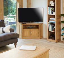 baumhaus mobel oak corner widescreen television cabinet cor09c srp 499