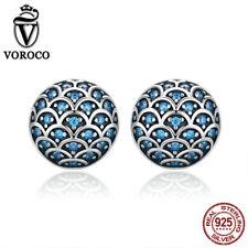 Voroco Blue Ocean Romance 925 Sterling Silver Legend Of The Sea Earrings To Lady