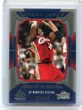 """2004-05 SP GAME USED #157 LEBRON JAMES """"SEASON IN REVIEW"""" #150/999, CAVALIERS"""