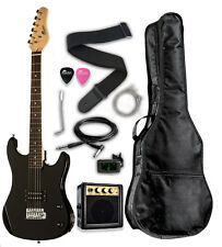 "Raptor 3/4 Scale 36"" Kid's Starter Electric Guitar Pack BLACK + Amp, Bag, Tuner"