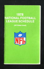 NFL--1978  Pocket Schedule--Seagrams