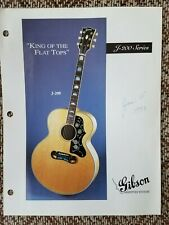 1993 Gibson Guitars Dealer Info Sheet for J-200 Acoustic Case Candy