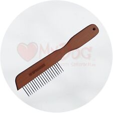 Herm Sprenger Pear Wood Dog Grooming Comb
