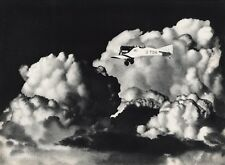 1931 Vintage 16x20 AVIATION AIRPLANE ~ Aerial Flying Thunder Cloud Photo Gravure