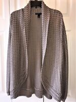 Womens NWOT  INC International Concepts Woman 1X Taupe open Cardigan sweater