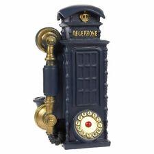 London Telephone Booth Piggy Bank - Polyresin Coin Box Money Bank, Navy Blue