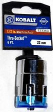 "KOBALT THRU SOCKET 1/2"" Drive 22mm Metric 6pt THRU-SOCKET 323363"