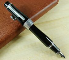 Duke Charlie Chaplin Memory Fountain Pen , Black Big Size Style Lovely Gift Pen
