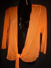 NEW COVER Orange stretch bolero cardigan jacket SZ 14-18
