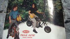 1971 Vintage MTD Mini Bike Motorcycle Brochure