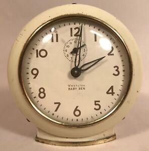 Baby Ben Wind-up Clock, Cream. Vintage