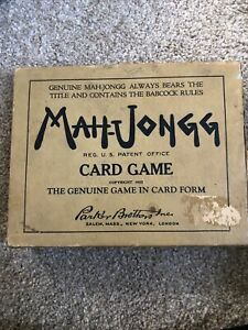 Vintage Mah-Jongg Card Game Parker Brothers 1923 COMPLETE!